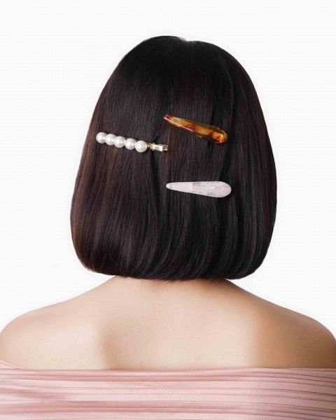 3 Packs Hair Pearlescent Resin