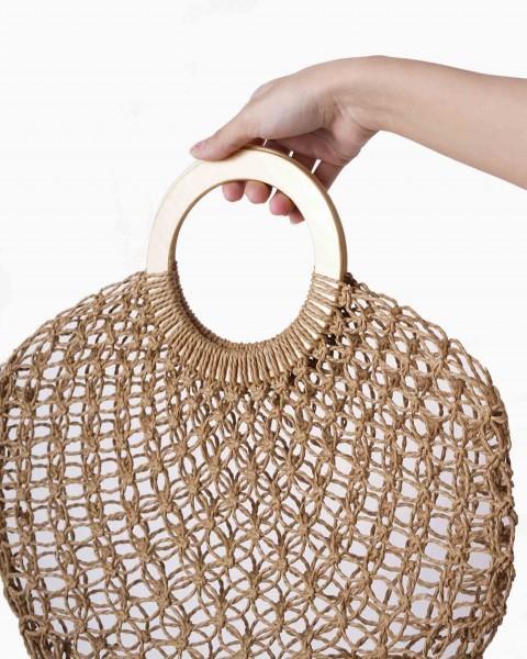 Handbag Straw Ring Classic