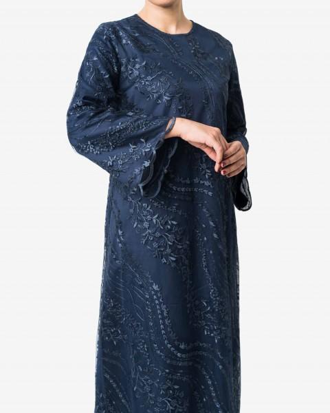 Shaf Dress in Midnight Blue