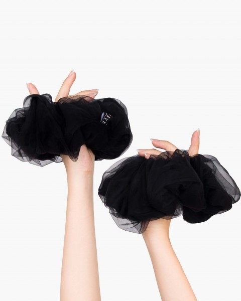 Pou Scrunchie in Black