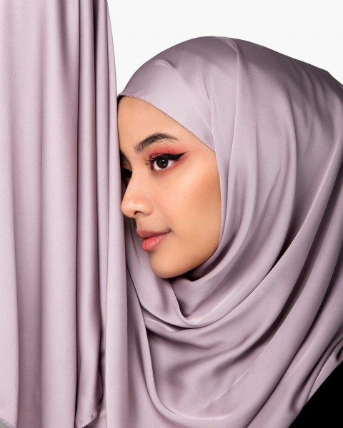 Premium Silk Scarf in Light Amethyst