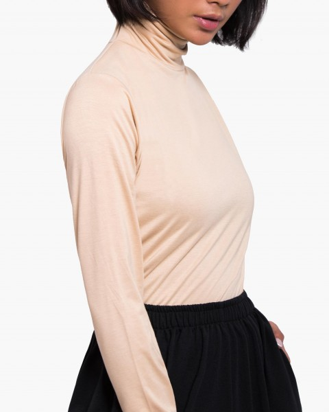 Pou Turtleneck Top Long Sleeves in Cream