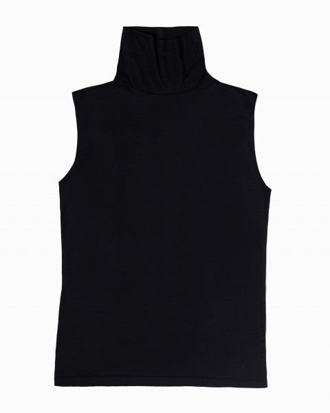 Pou Turtleneck Top Sleeveless in Black