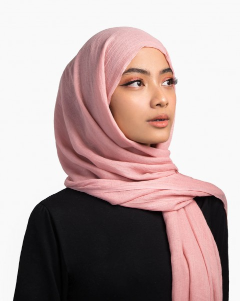 You Cotton Scarf in Pink
