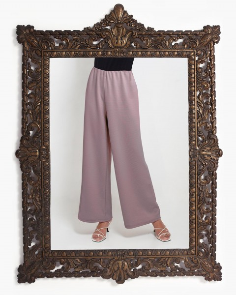 Lea Loose Fitting Trousers in Mauve