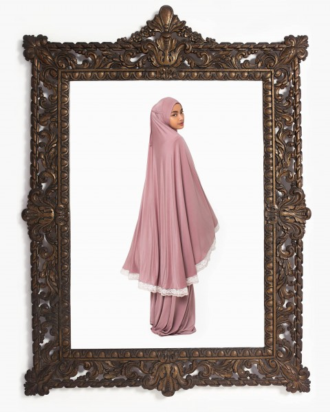 Basic Mukena in Light Mauve