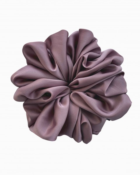 Silk Scrunchie Large in Amethyst