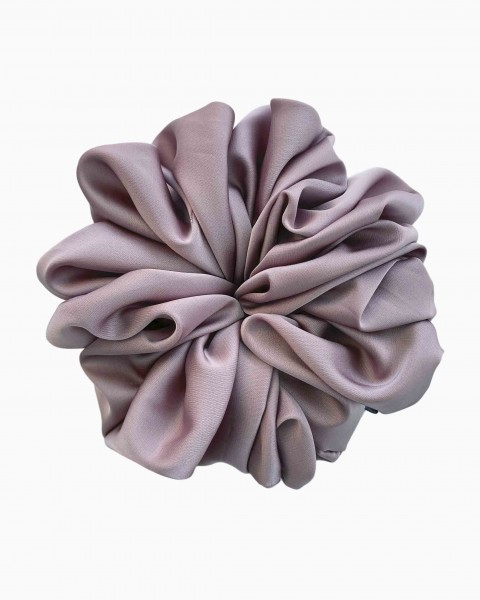 Silk Scrunchie Large in Light Amethyst