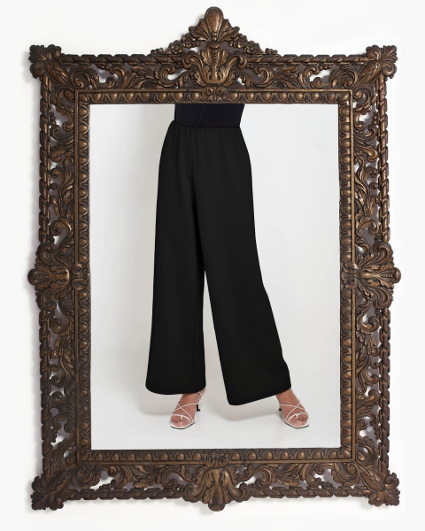 Lea Loose Fitting Trousers in Black
