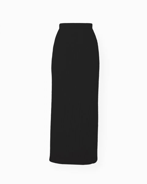 Black Ribbed Skirt