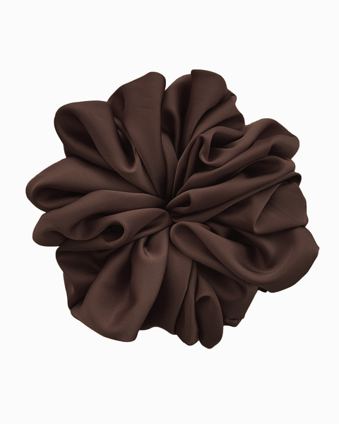Silk Scrunchie Large in Onyx