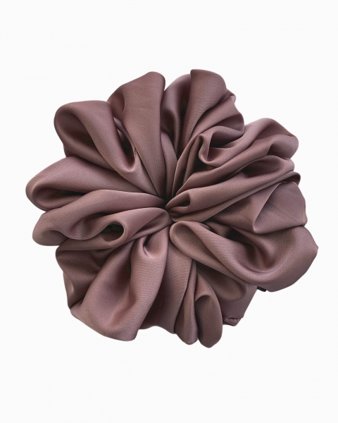Silk Scrunchie Large in Rhodonite
