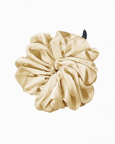 Silk Scrunchie Large in Citrine