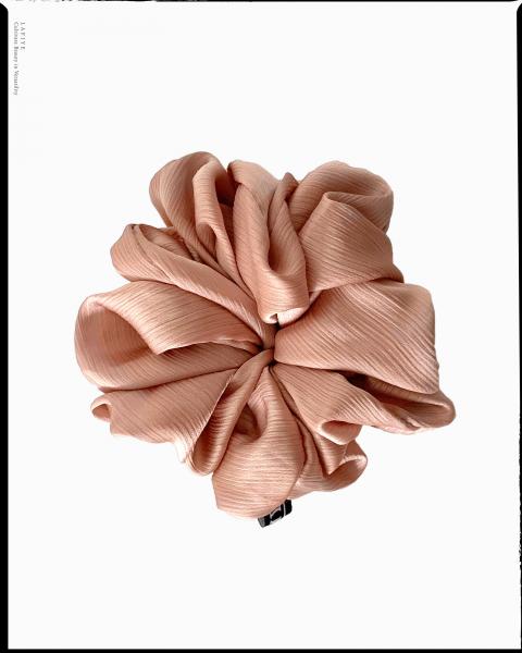 Textured Silk Scrunchie in Salem
