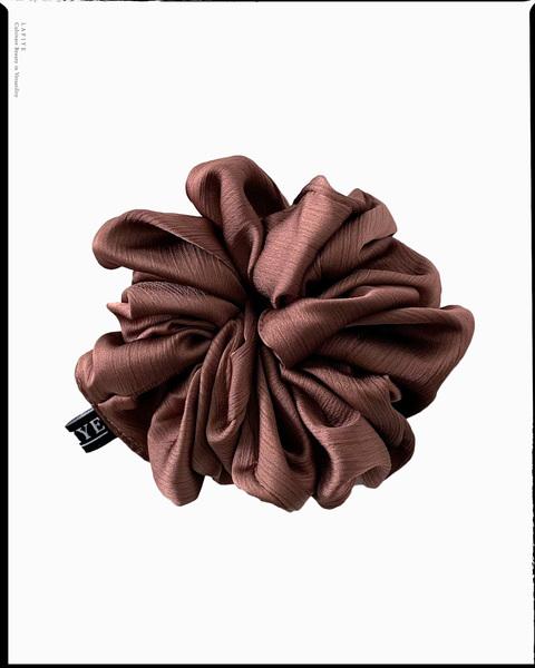 Textured Silk Scrunchie in Sienna