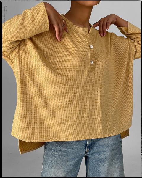 Honeycomb Shirt in Yellow