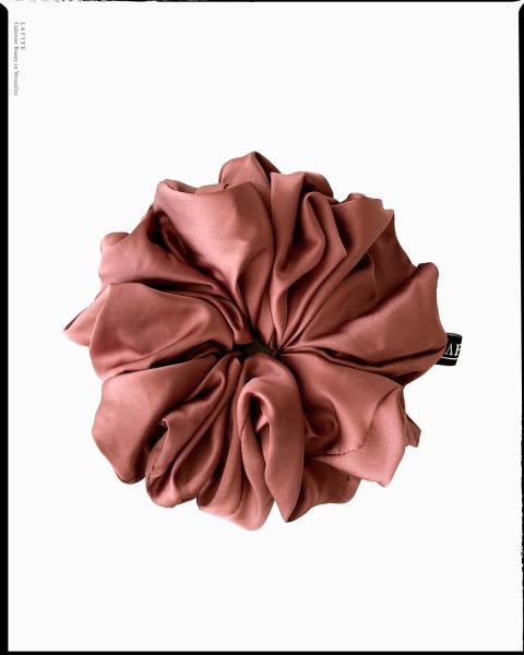 Silk Scrunchie Large in Agate